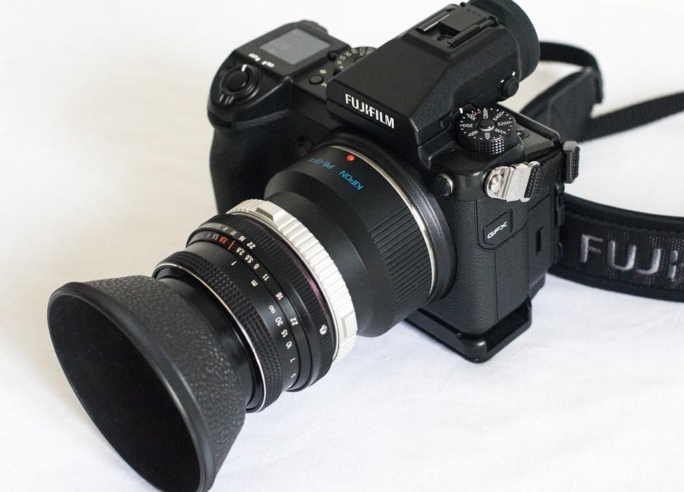 Fuji GFX 50s meduim format camera Carl Zeiss Jena DDR Biometar 80mm f2.8 lens