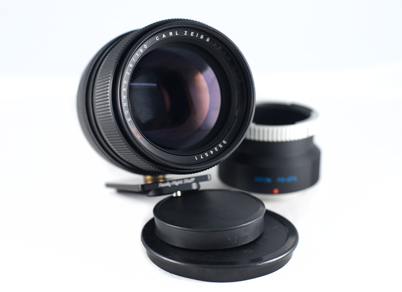 image of Carl Zeiss Jena Sonnar 180mm f2.8 vintage lens