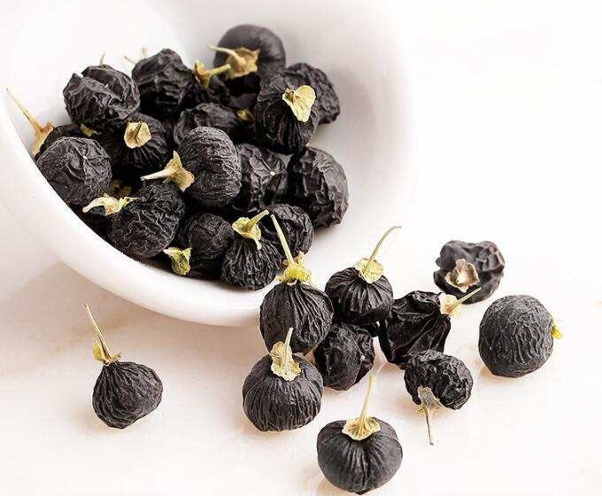 Wild black wolfberry in china
