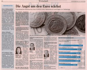 Als Experte des Bundesverbandes Deutscher Banken beim Telefonforum der Lausitzer Rundschau am 14.06.2012 - Teil 2