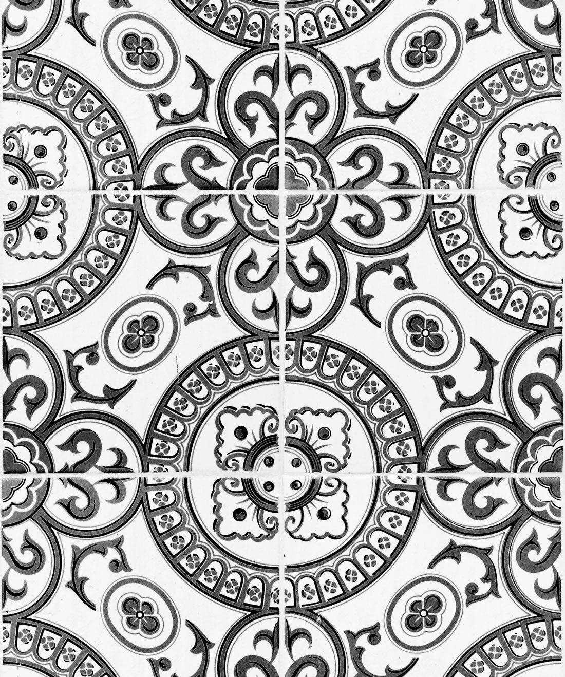 heritage tiles wallpaper authentic cement tile design milton king