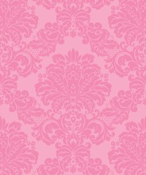 Pink Damask Wallpaper Bright Bold Sexy & Opulent • Milton & King AUS