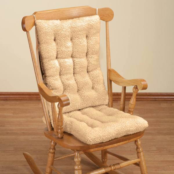 Sherpa Rocking Chair Cushion Set - Pad Miles Kimball