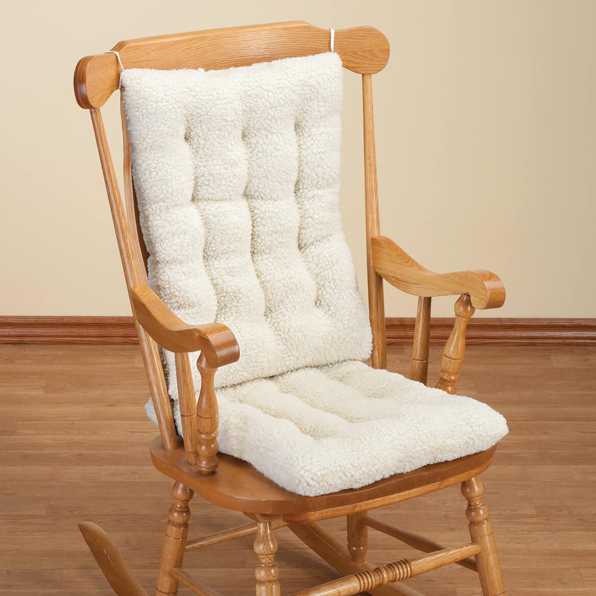 Sherpa Rocking Chair Cushion Set  Chair Pad  Miles Kimball