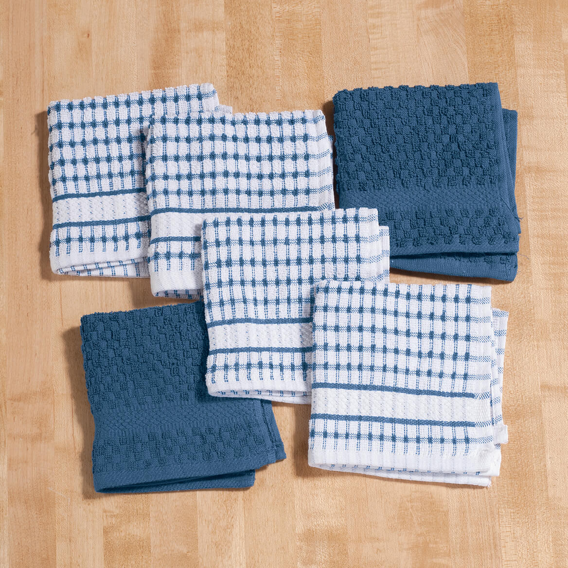 terry kitchen towels tables sets dish cloths set of 6 cotton miles kimball