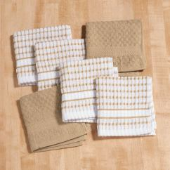 Terry Kitchen Towels Modern Bar Stools Dish Cloths Set Of 6 Cotton Miles Kimball