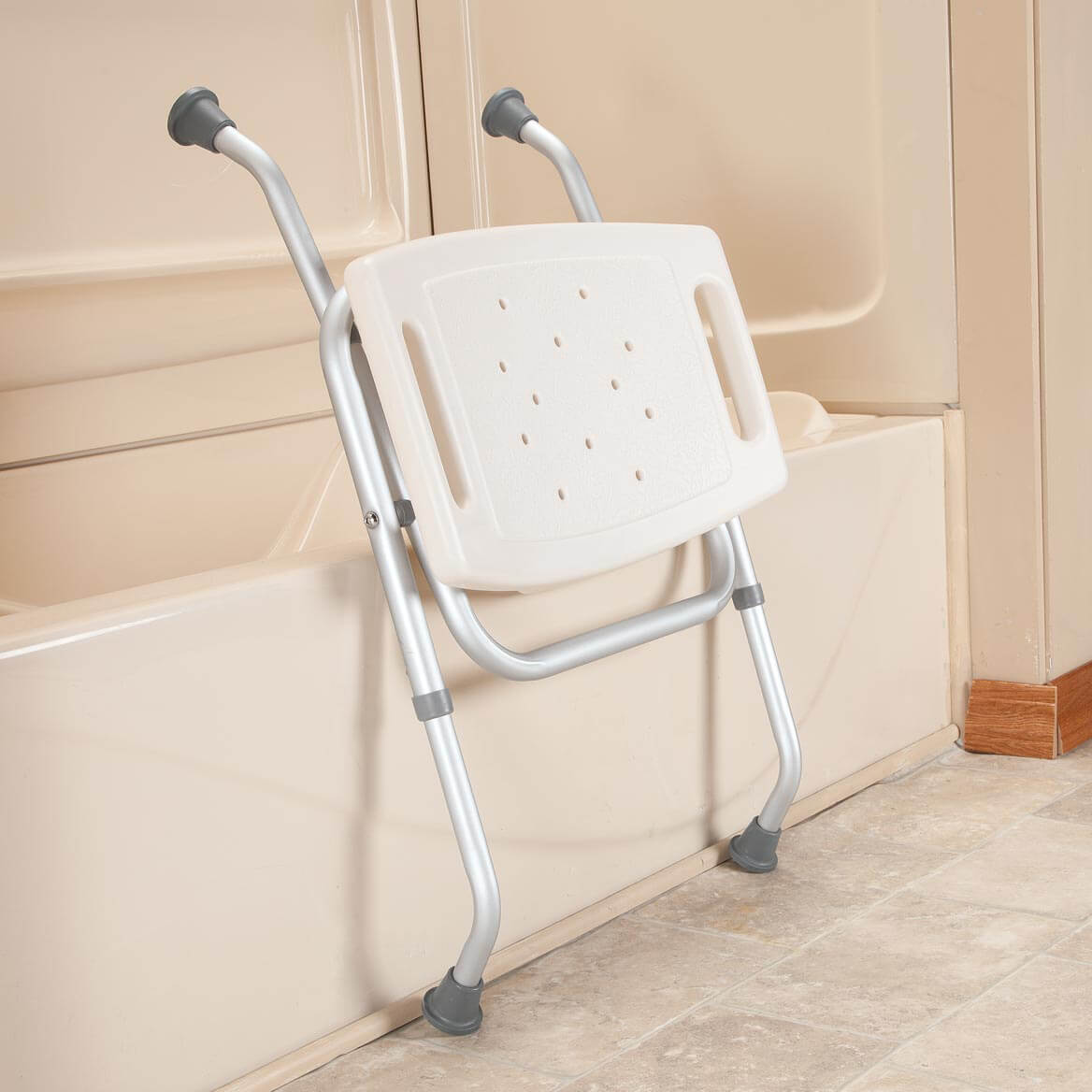 folding chair for bathroom evenflo modern 200 high bath bench tub miles kimball