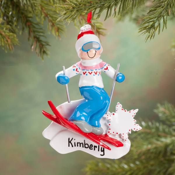 Skier Ornament Personalized