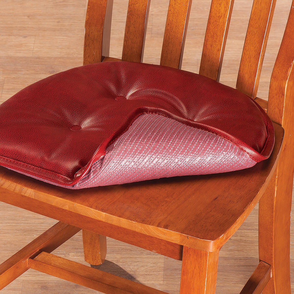 faux leather chair pads old chairs for sale st germaine pad w gripper