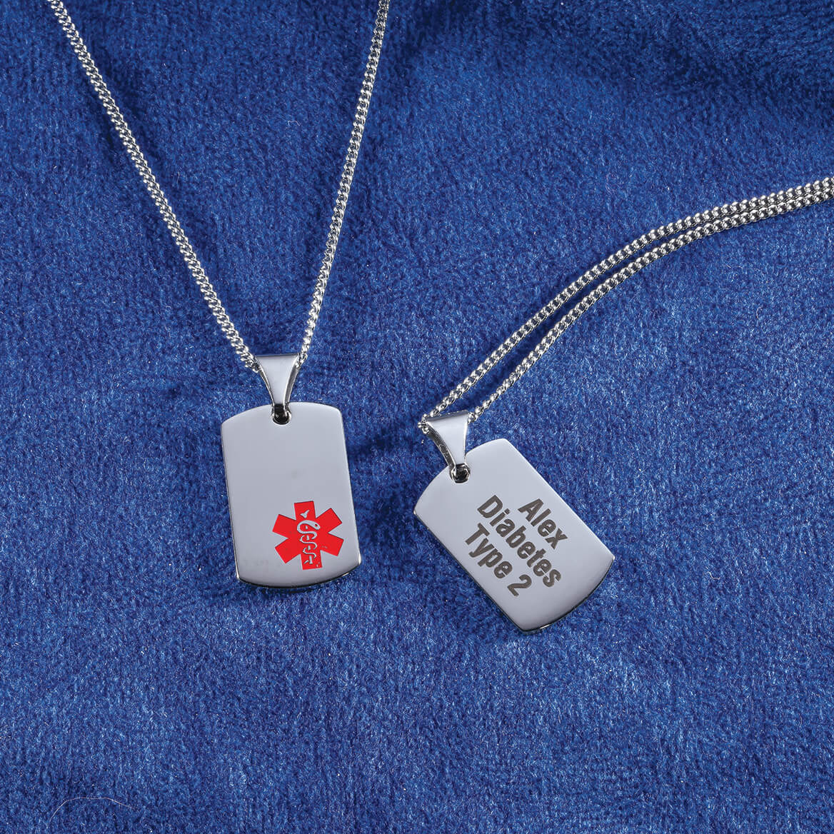 Personalized Medical ID Tag Necklace - Diabetic Necklace ...