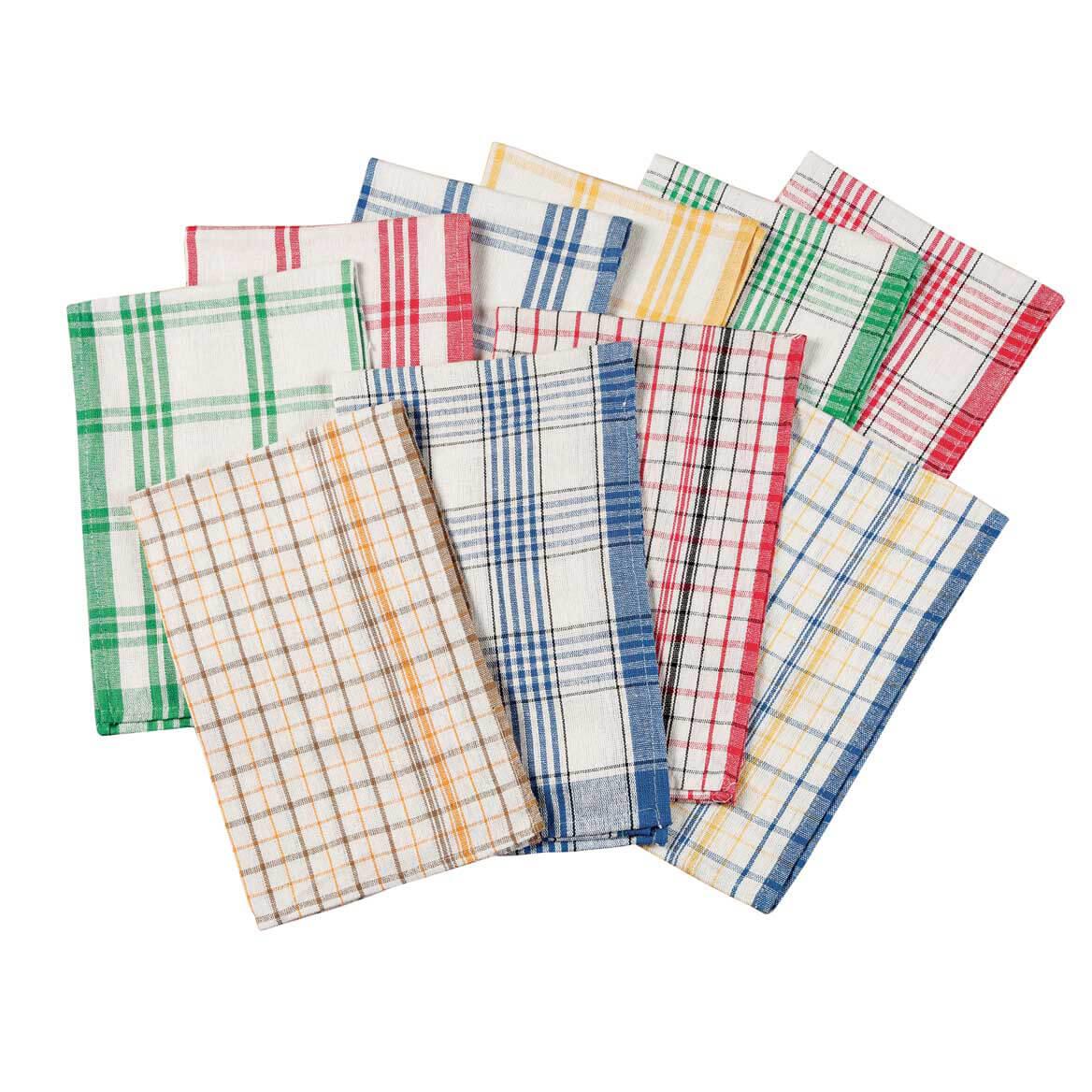 Plaid Kitchen Towels Set of 10  Kitchen Towels  Miles