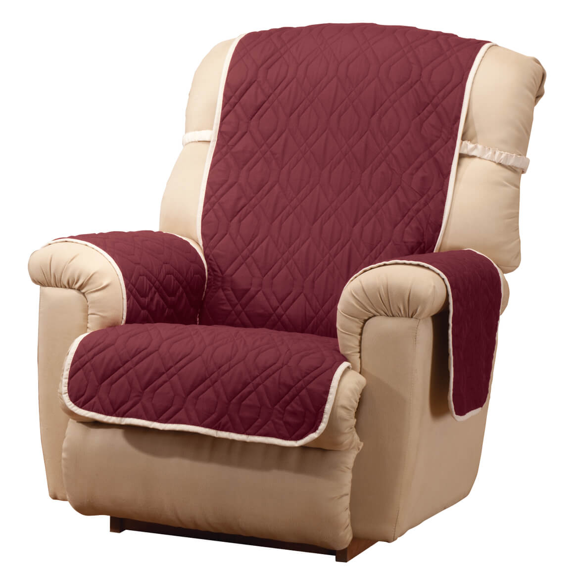 waterproof chair covers for recliners cowhide office uk deluxe reversible recliner cover miles kimball