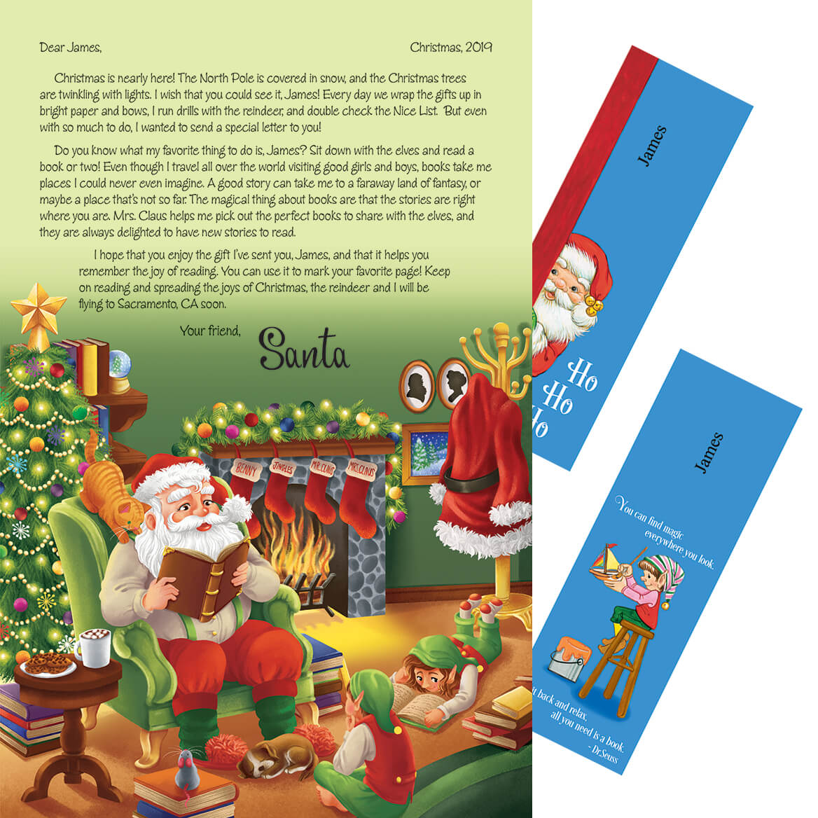 personalized santa letter and