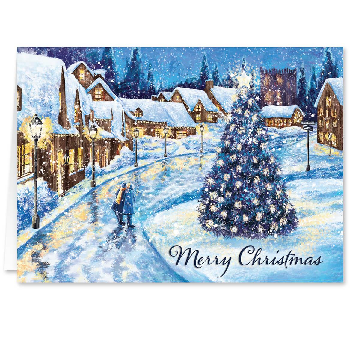 Christmas Glow Personalized Christmas Cards Miles Kimball