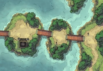 Coastal Town Map Free! for D&D and Fantasy RPGs