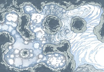 The YETI LAIR Battle Map & Encounter 2 Minute Tabletop