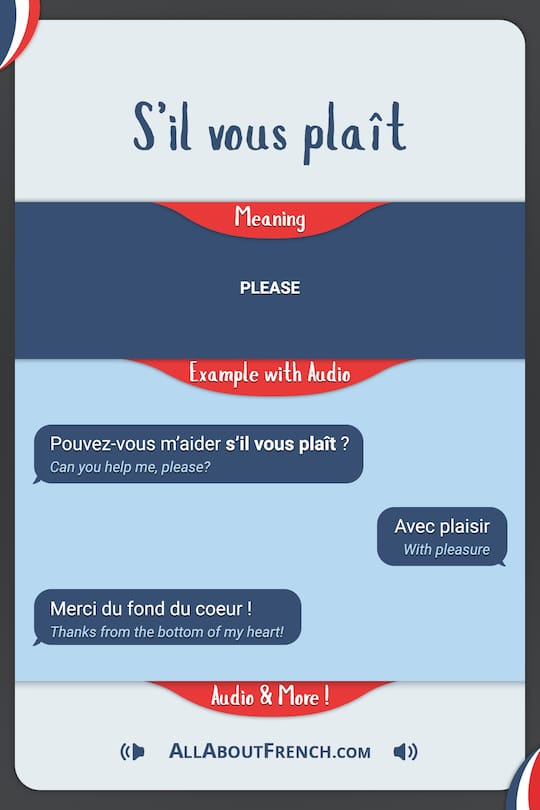 S'il-vous-plaît : s'il-vous-plaît, Plaît, Meaning, Examples