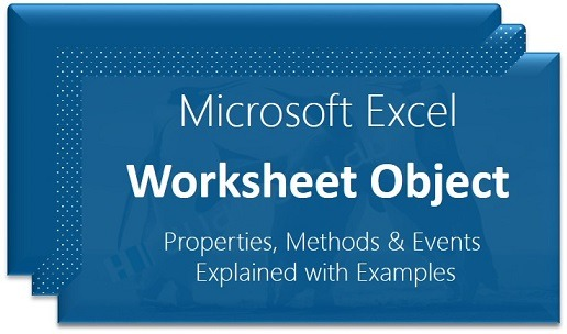 Vba Worksheet Excel Object Examples