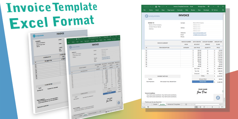 It can help you gauge how consumers perceive your business, give you a direct line of communication with your customers and even help people view y. Invoice Template Excel Free Download Xlsx Xls Format