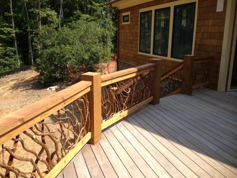 Rustic Handrails For The Home Options And Materials For Railings   Rustic Banisters And Railings   Industrial   Unusual   Balcony   Custom   Barn Style