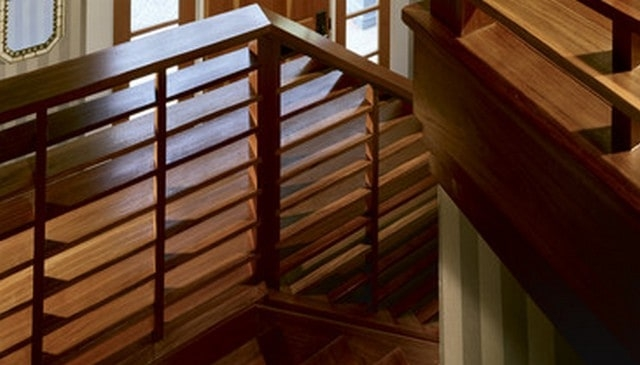 100S Of Deck Railing Ideas And Designs | Wooden Hand Railing Designs | Light Wood | Residential Industrial Stair | Wood Panel | Decorative Glass | Scandinavian