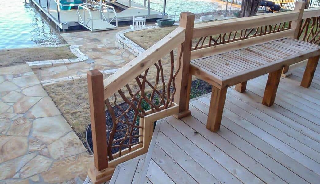 Mountain Laurel Handrail Wood Railings Decks Stairs | Wooden Handrails For Outside Steps | Staircase | Building | Wrought Iron | Concrete Steps | Deck