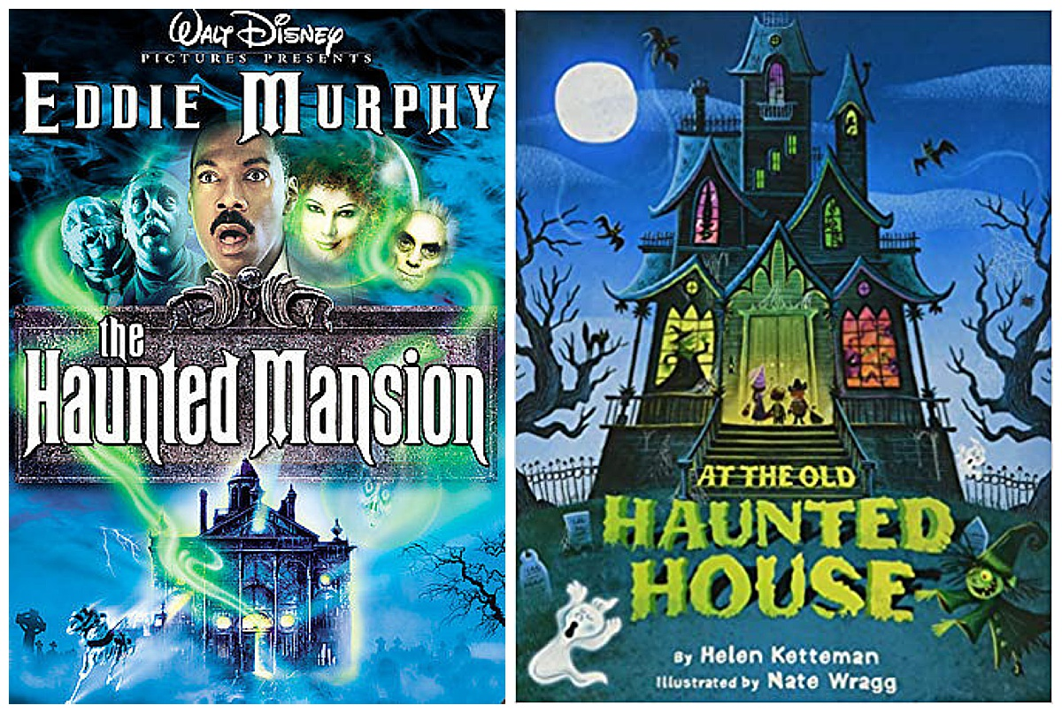 The Haunted Mansion movie and At the Old Haunted House book