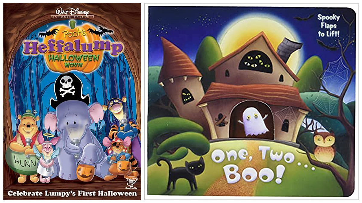 Pooh's Heffalump Halloween Movie and One, Two...Boo! Board book