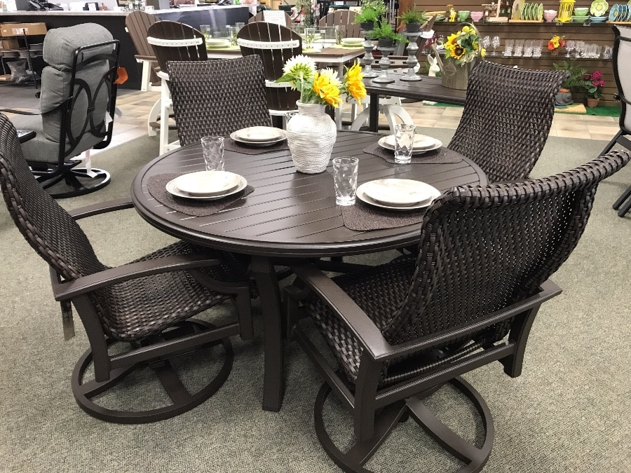 tropitone marconi woven dining group