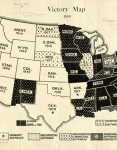 Women   suffrage map also victory published the year before rh brilliantmaps