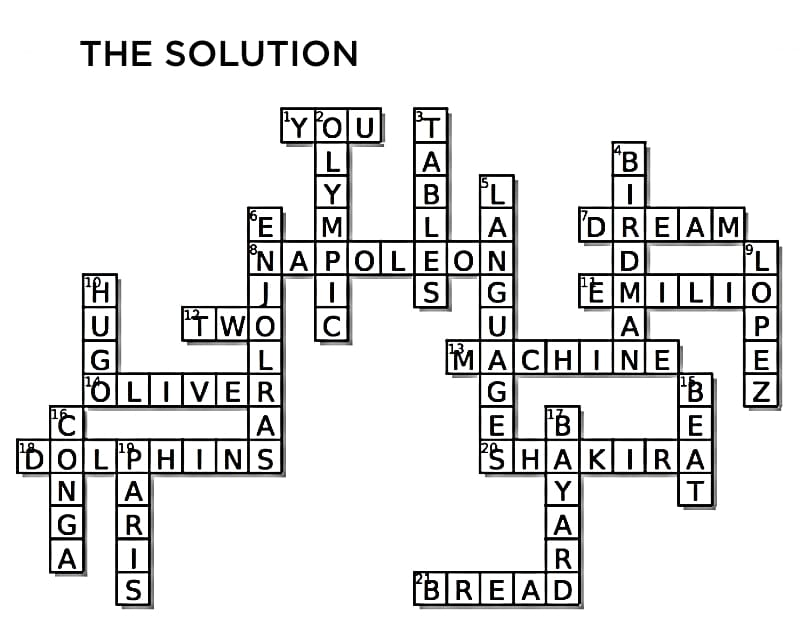 Try our new crossword puzzle: 'Les Misérables' and 'On