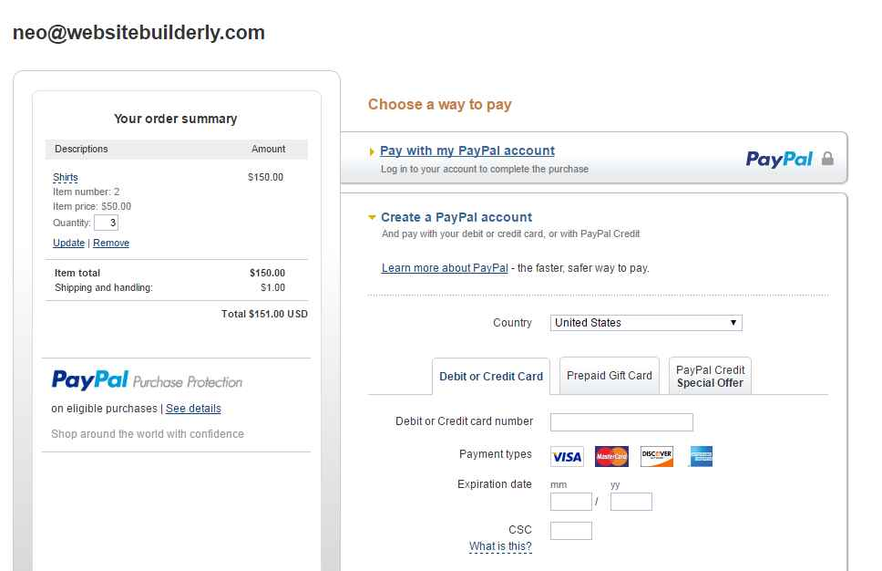 GoDaddy ECommerce Allows All Payments Methods