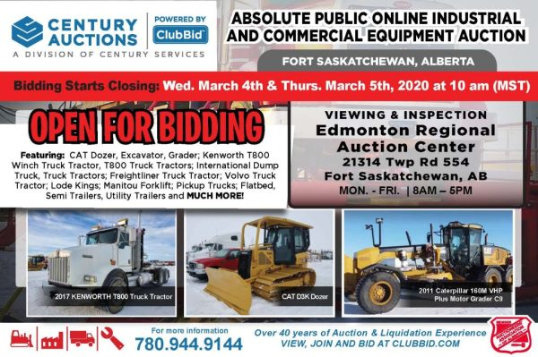 Absolute Public Online Industrial and Commercial Equipment ...
