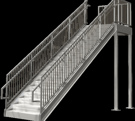 Commercial Stairs Ibc Compliant Premade Staircases Bolt Together | Commercial Handrails For Outdoor Steps | Simplified Building | Stair Treads | Porch | Front Porch | Custom
