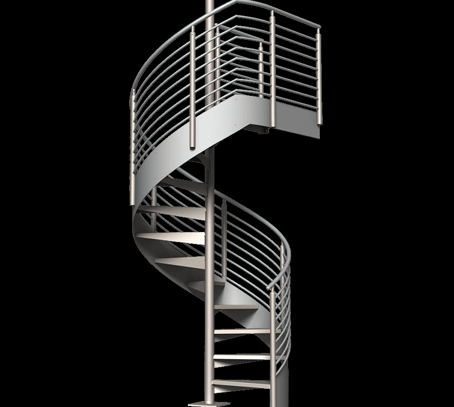Classic Spiral Stair Kit Erectastep   8 Foot Spiral Staircase   Stair Railing   Winding Staircase   Stair Parts   Wood   Modern Staircase
