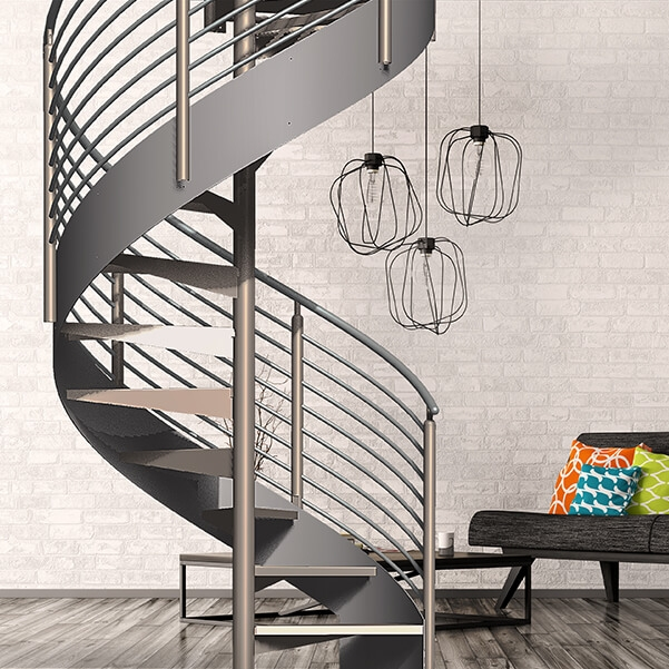 Classic Spiral Stair Kit Erectastep   12 Ft Spiral Staircase   Stair Treads   Steel   Mylen Stairs   Staircase Kit   Stair Kit