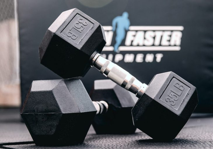 Hex dumbbells made by Again Faster