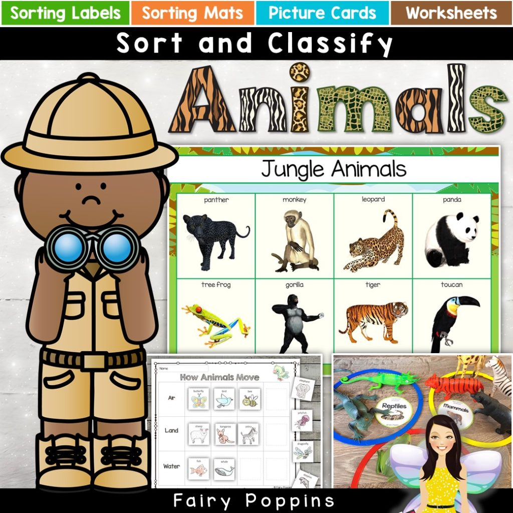 hight resolution of Animal Sort and Classify   Fairy Poppins