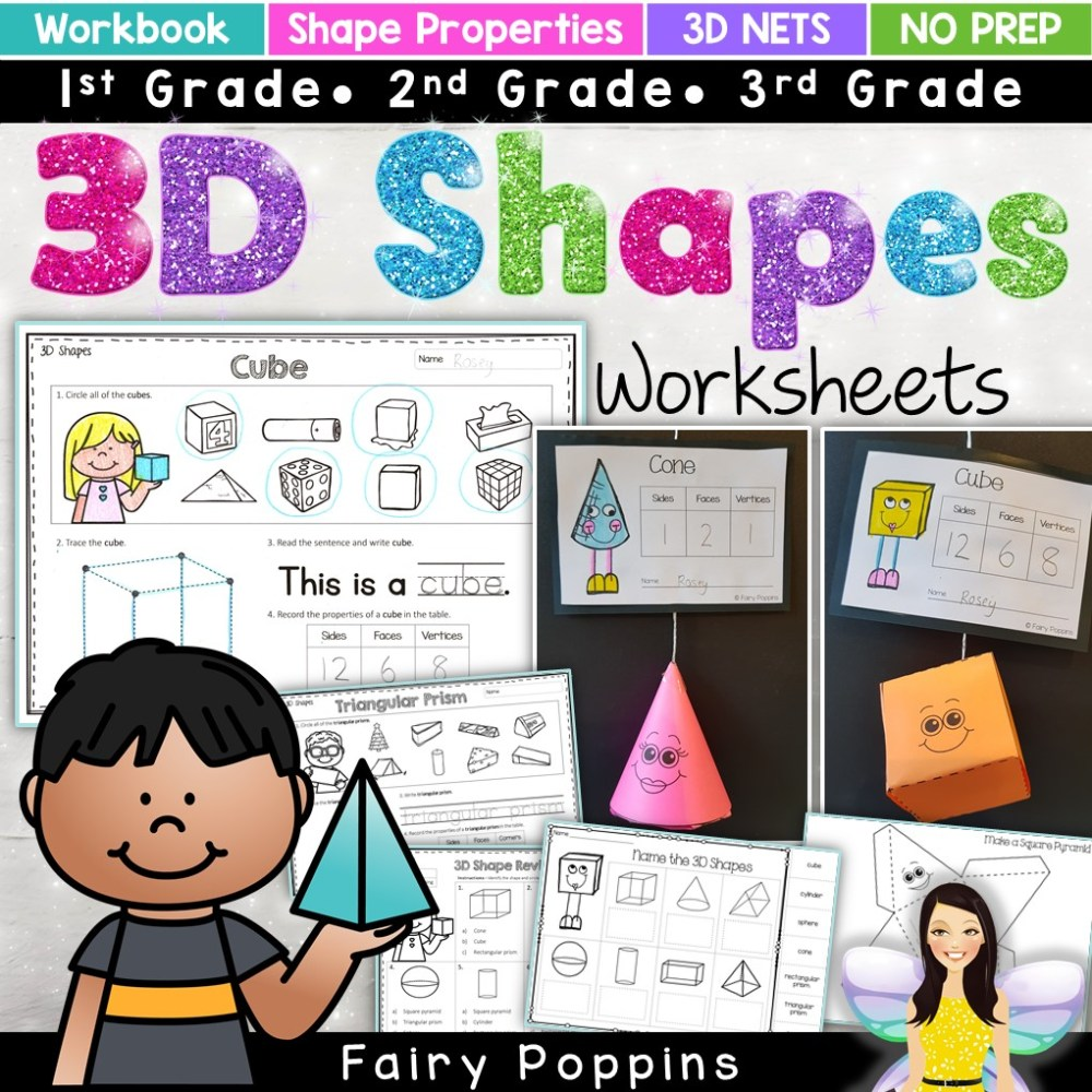 medium resolution of 2D and 3D Shapes Activities   Fairy Poppins
