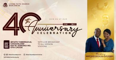Watch Winners' Chapel 40th Anniversary Thanksgiving 9th May 2021 Live with Bishop David Oyedepo