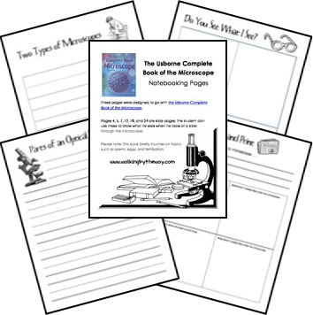 Free Microscope Study Notebooking Pages