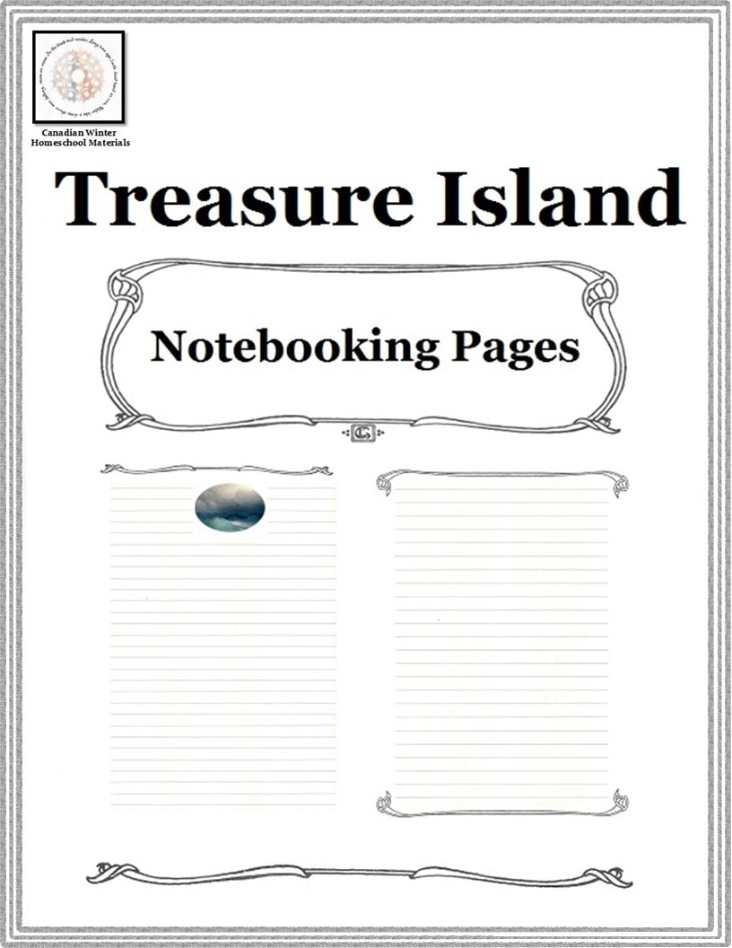 Free Treasure Island Notebooking Pages