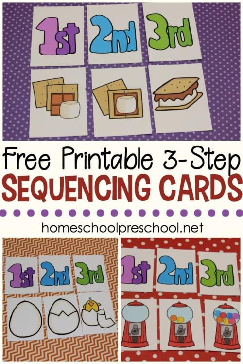 small resolution of FREE 3 Step Sequencing Cards for Preschoolers   Free Homeschool Deals ©