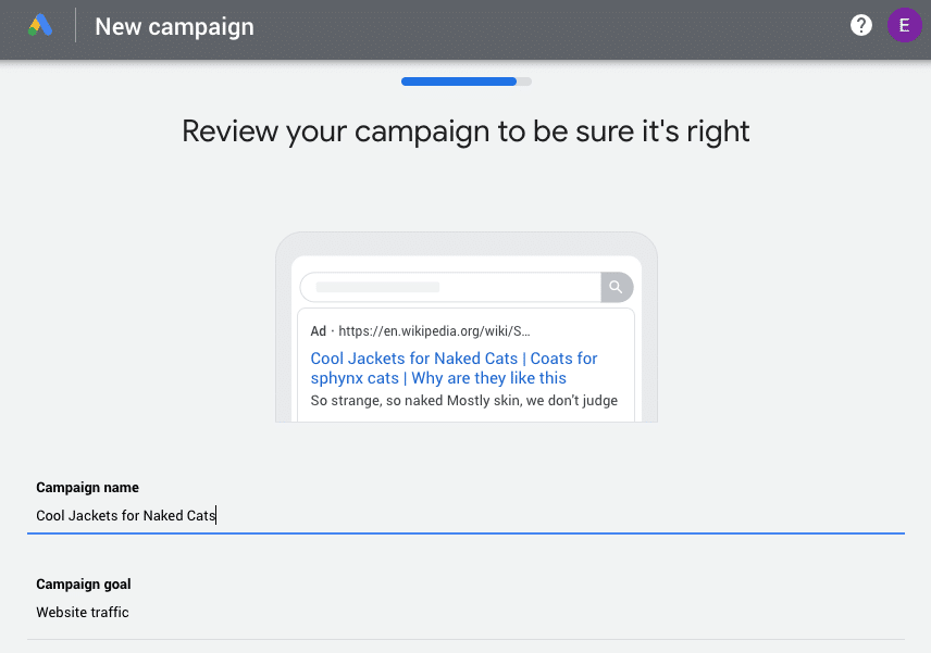 Google Ads campaign review