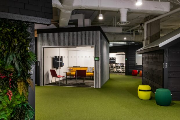 Biophilic design in the Hootsuite Vancouver office