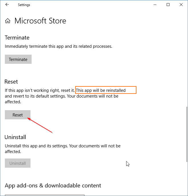 reinstale la aplicación Store en Windows 10