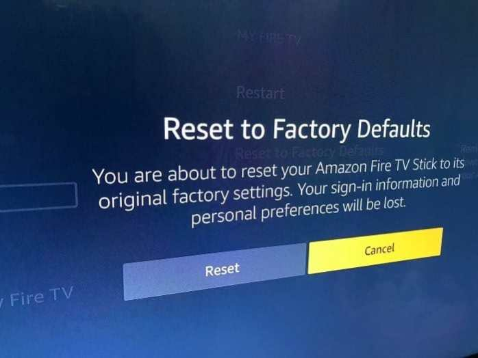 Reset amazon fire tv Stick to default factory settings pic1