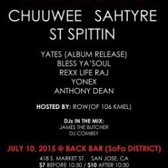 Back Bar Sofa San Jose Ca Refurbishment Dubai El Ch3z Sahtyre Stspittin Yates Westacy More Get Ready To Set Chuuwee One Of Sacramento S Dopest Artists Has Dropped Several Projects Consistently For Years Now Ksjs Been Playing His Music Since