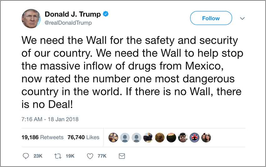 Mexico most dangerous country in the world Trump