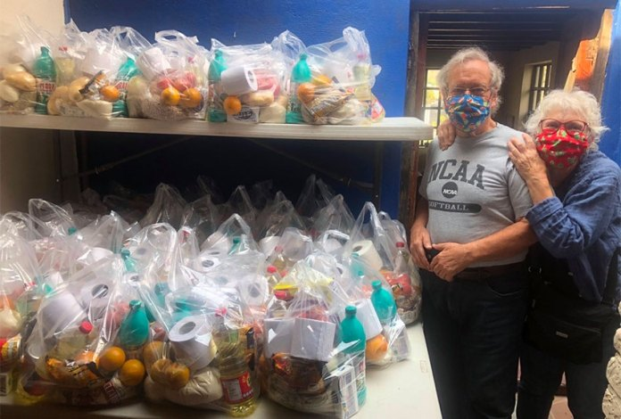 Food bank supporters Scott and Diane Harris.